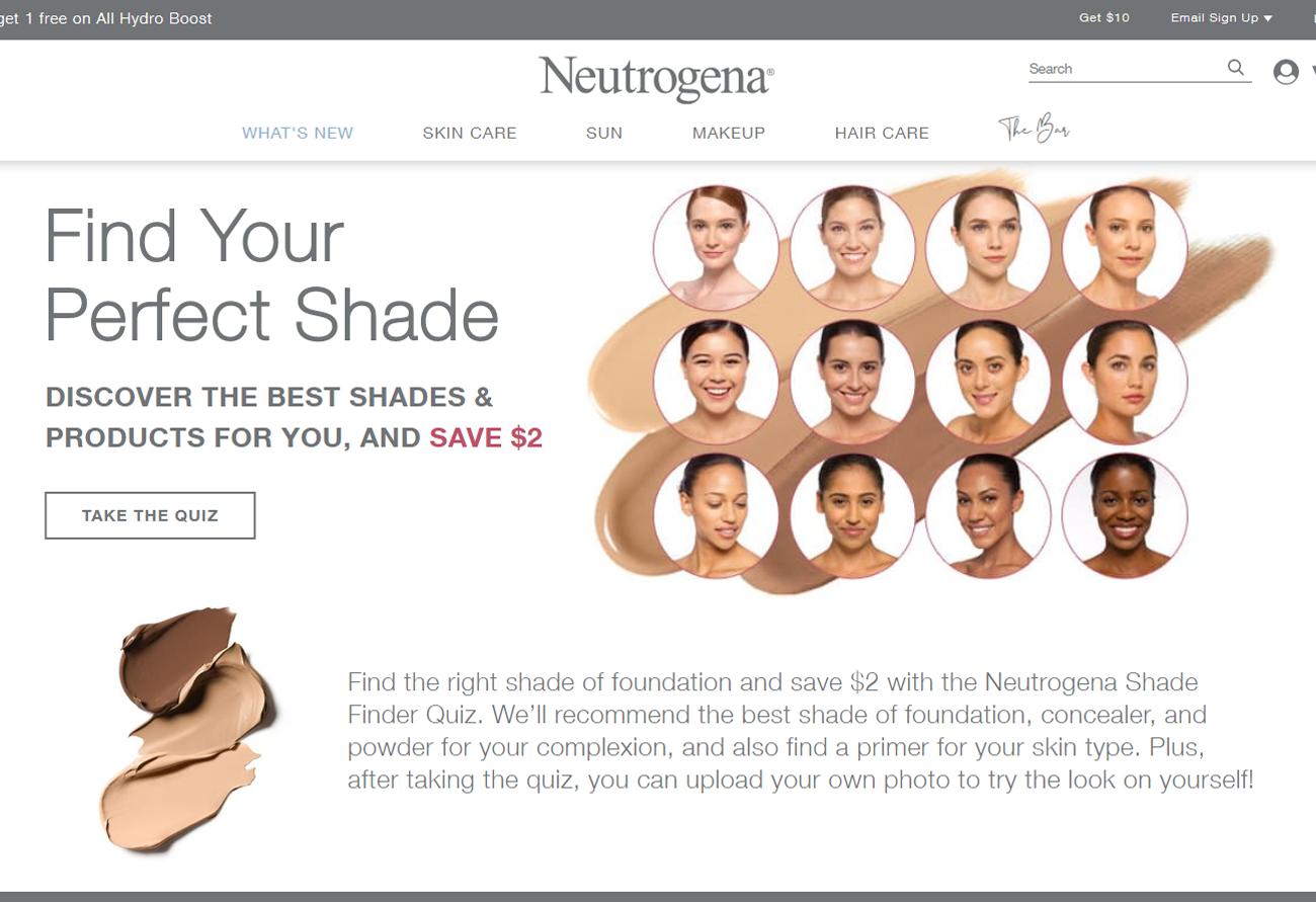 Neutrogena Shade Quiz Lead Magnet
